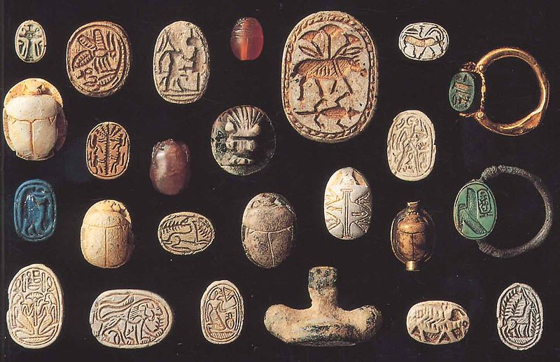 Egyptische Scarabee Aangetroffen Tijdens Opgravingen
