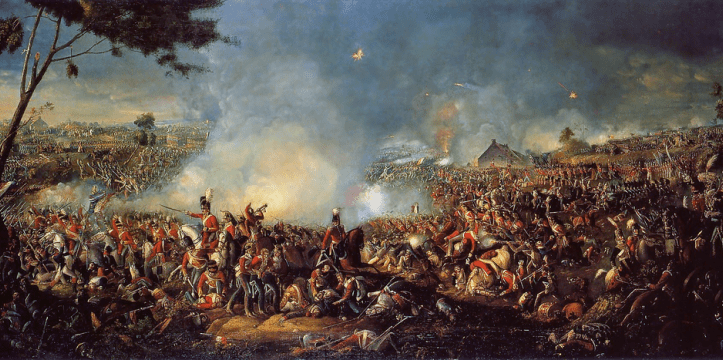 Battle of Waterloo - schilderij van William Sadler