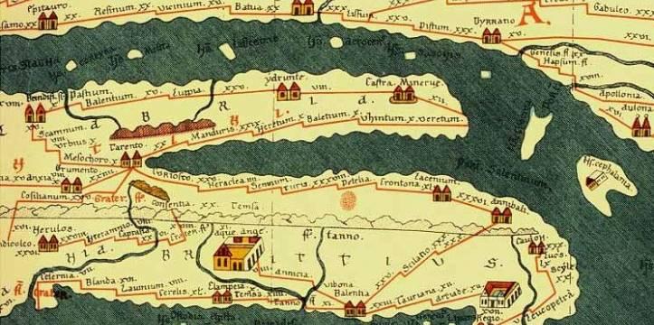 Onwijs Romeinse wegenkaart wordt online routeplanner | Archeologie Online RM-72